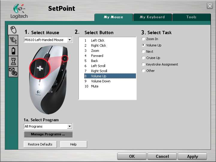 Enabling all options on your Logitech mouse » unitstep net