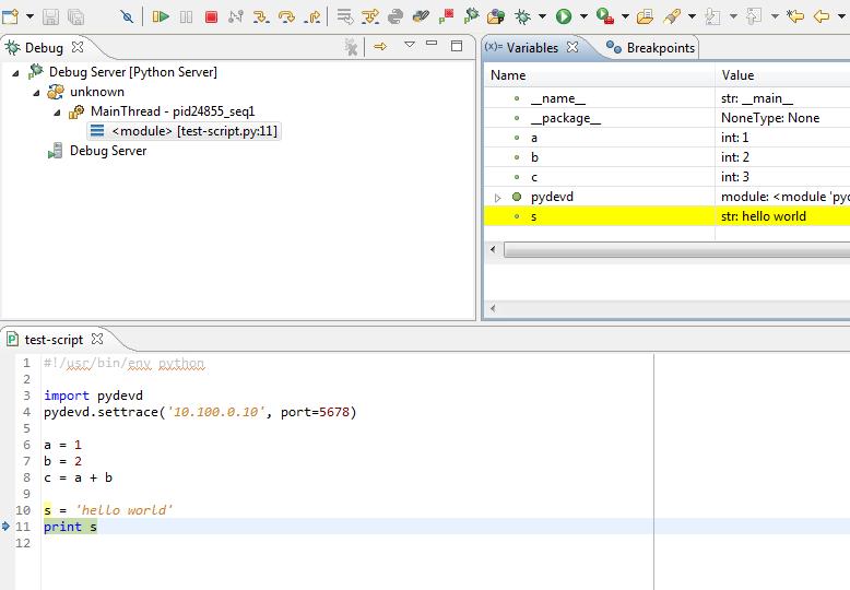 Remote Python debugging using PyDev/LiClipse for OpenStack